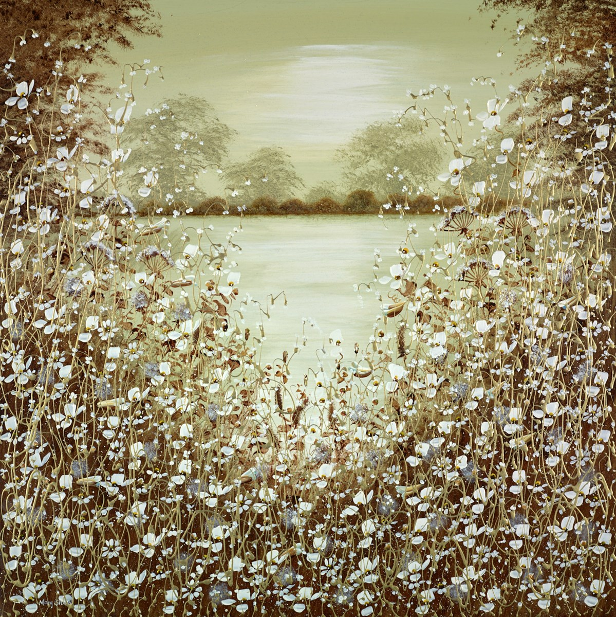 The Secret Pool IV by mary shaw -  sized 36x36 inches. Available from Whitewall Galleries